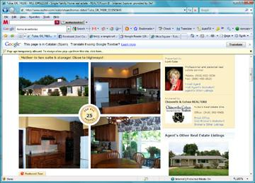 Internet home search with multiple photos