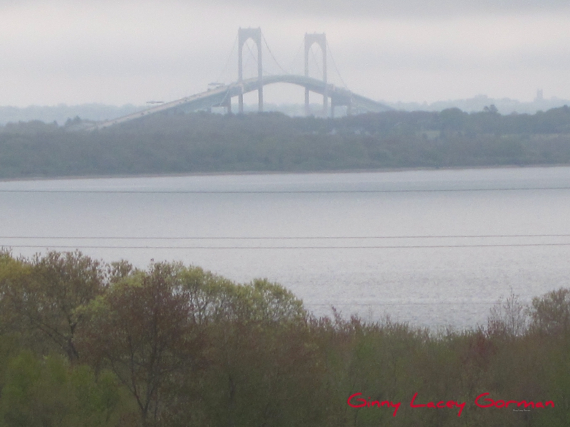 Newport RI bridge in fog