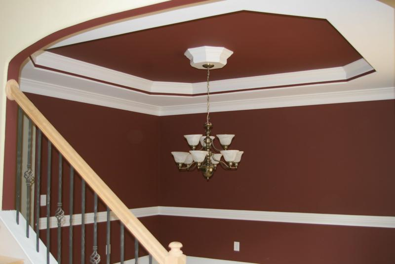 Raleigh Custom Home Builder - Detail of Trey Ceiling