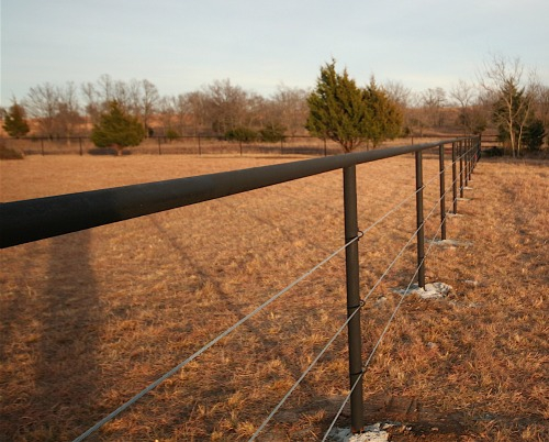 Pipe and Cable Horse Fencing Installation