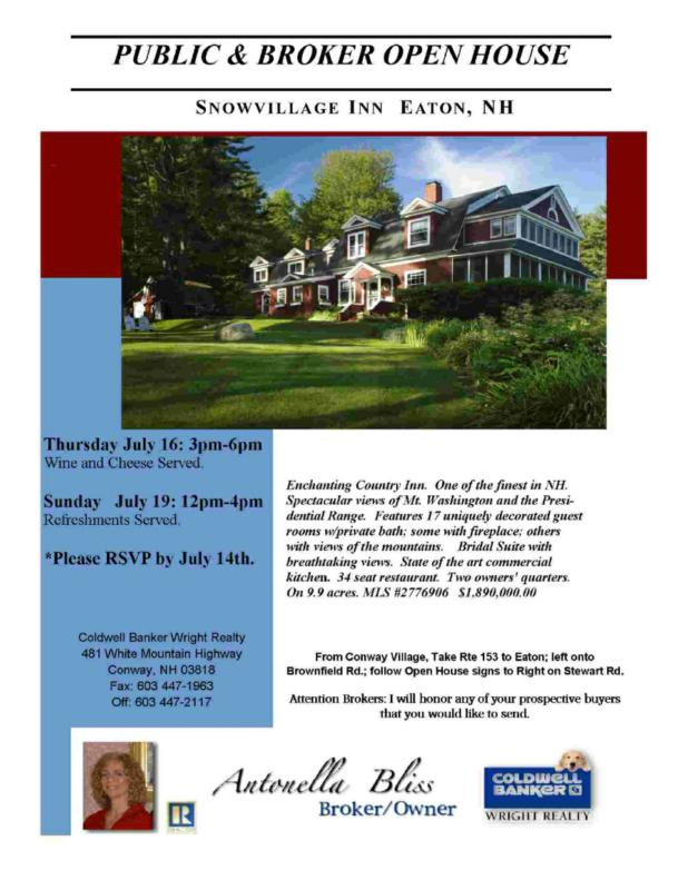 Invitation To This Enchanting Country Inn Public And Broker Open House