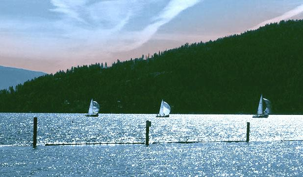 SAILBOATS ON PEND OREILLE