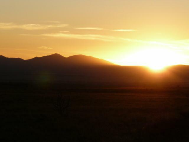 sunset, New Mexico horse ranch