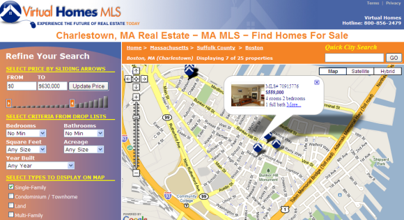 Charlestown MA real estate map