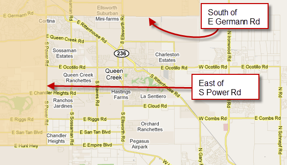 USDA Loan Qualifying Areas for Queen Creek