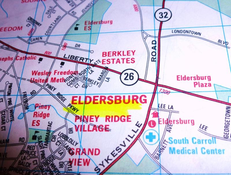 Eldersburg map