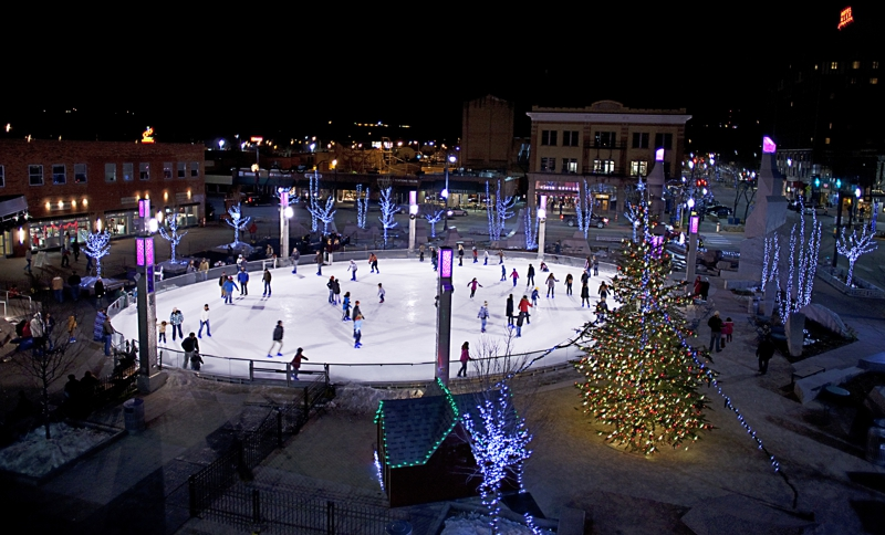 Ice Skating in Downtown Rapid City