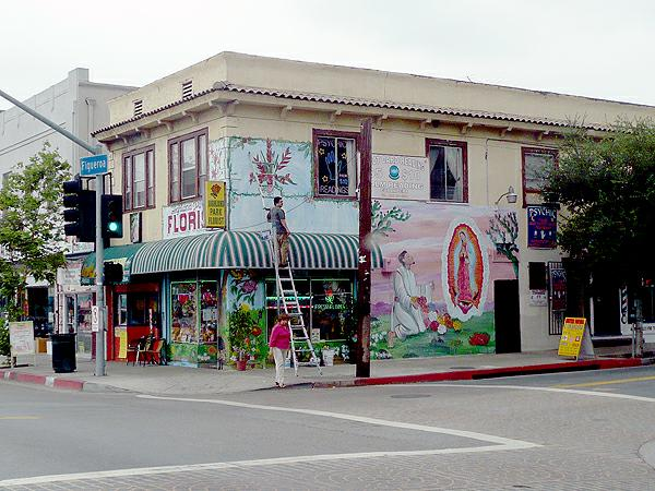 Highland Park CA - corner of North Figueroa and Avenue 57