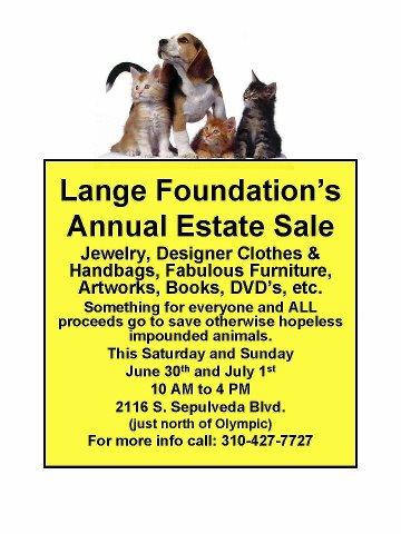 The Lange Foundation's Estate Sale