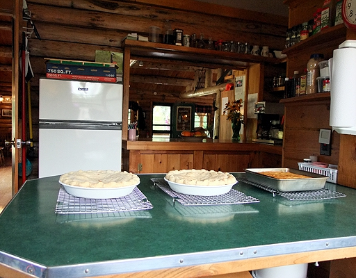 maine log kitchen pies