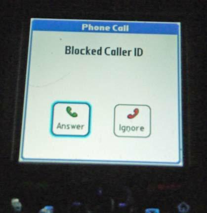 Blocked Caller ID