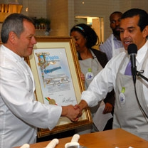 Wolfgang Puck & the Mayor of Los Angeles