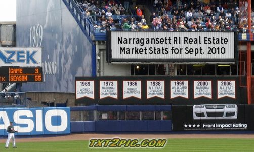 Narragansett RI 02882 Real Estate Market Statistics - September 2010