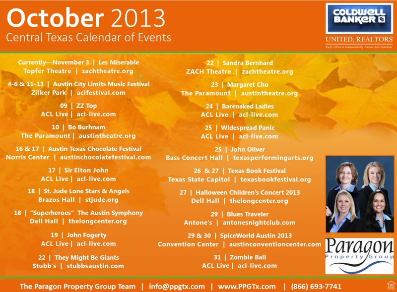 October 2013 Calendar of Events Things to Do Austin & Central Texas