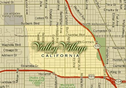 Studio City Zip Code Map.Valley Village The San Fernando Valley S Neighborhood With Character