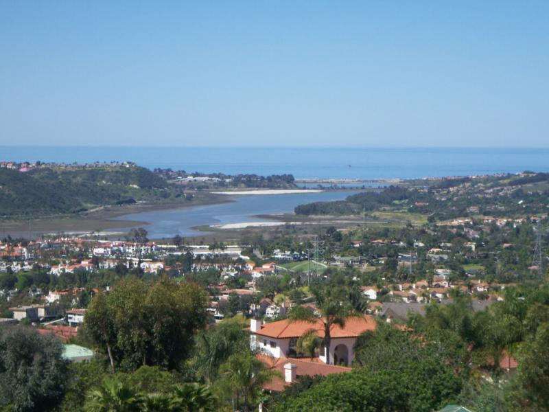 View of La Costa, Batiquitos Lagoon and ocean from the La Costa hills
