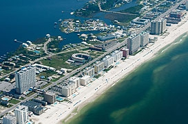 Aerial View of the City of Gulf Shores, AL