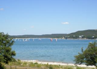 Sailboats on Lake Travis Texas