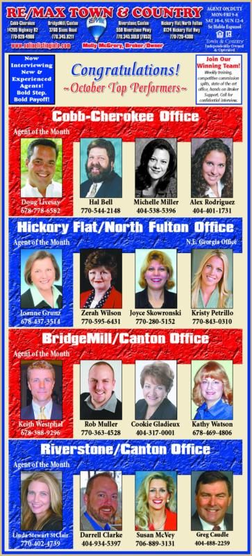 Congrats! RE/MAX Town & Country Top Performers!