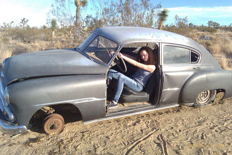 Found This Car Abandoned In The Desert Near Old Woman