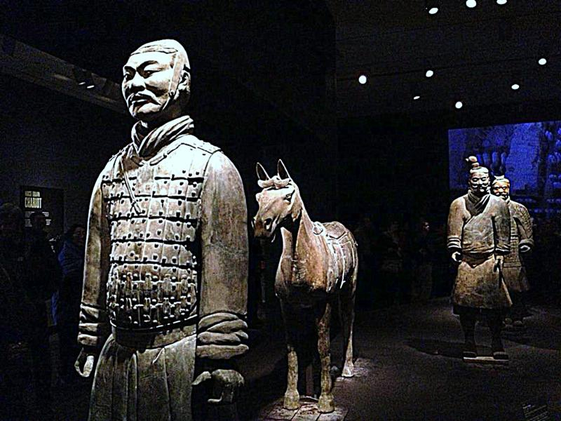 terra cotta warriors at the Asiam Art Museum