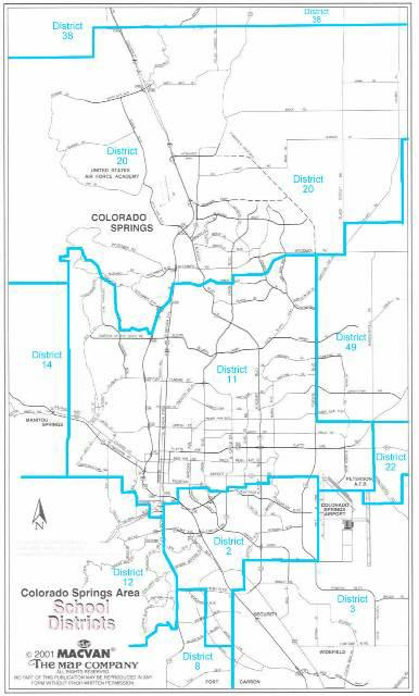 Colorado Springs School District Map