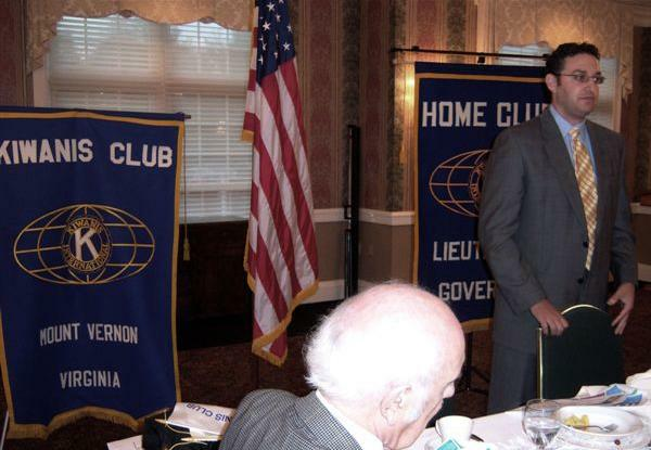 Brian Block speaks about real estate to local Kiwanis Club