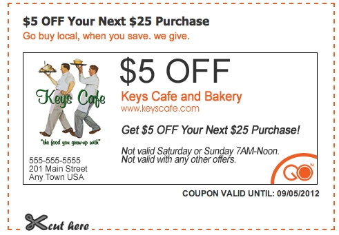 keys cafe and bakery coupon