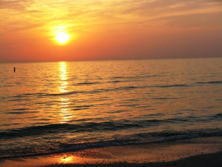 sunset picture on treasure island
