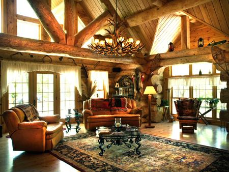 Outstanding Western Style Log Cabin For Sale On 12 Acres