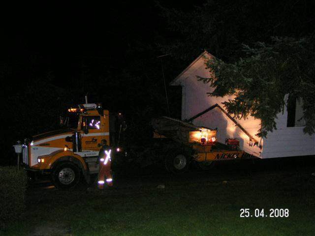 House being moved overnight