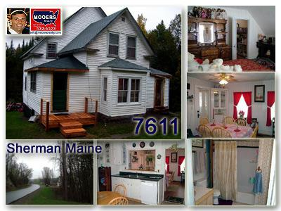 sherman maine home for sale, mooers realty,04476