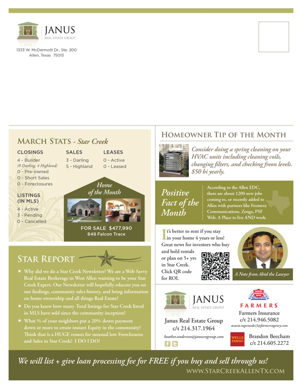 Star Creek Allen TX May 2012 Community Newsletter