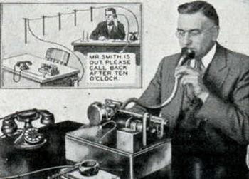 history of the answering machine Telephone answering machine:mail is distinguished from an answering machine by its ability to provide service to multiple phone lines and by the more sophisticated functions that it offers in addition to recording messages.