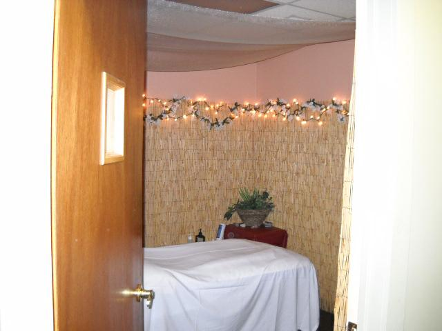 Relaxing massage room @ Brookside Body Works Day Spa in  midtown Tulsa
