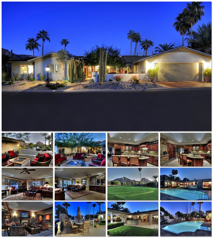 paradise valley golf course home for sale in mountain shadows