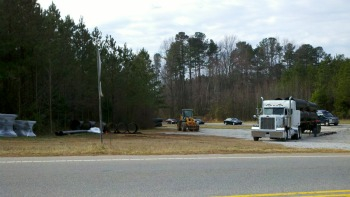 corner of Penny Road and Holly Springs Road