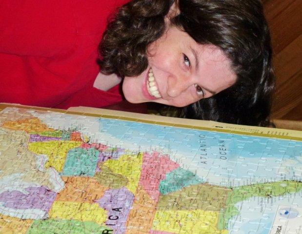Erica and the USA Map Puzzle