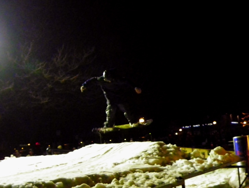 Catchin' air on the Rail Jam for Sandpoint Winter Carnival