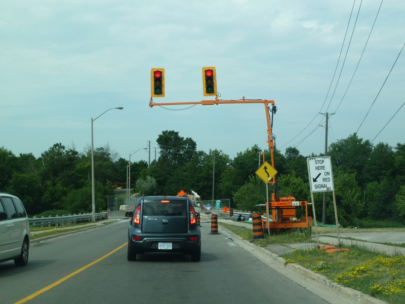 movable mechanical traffic lights
