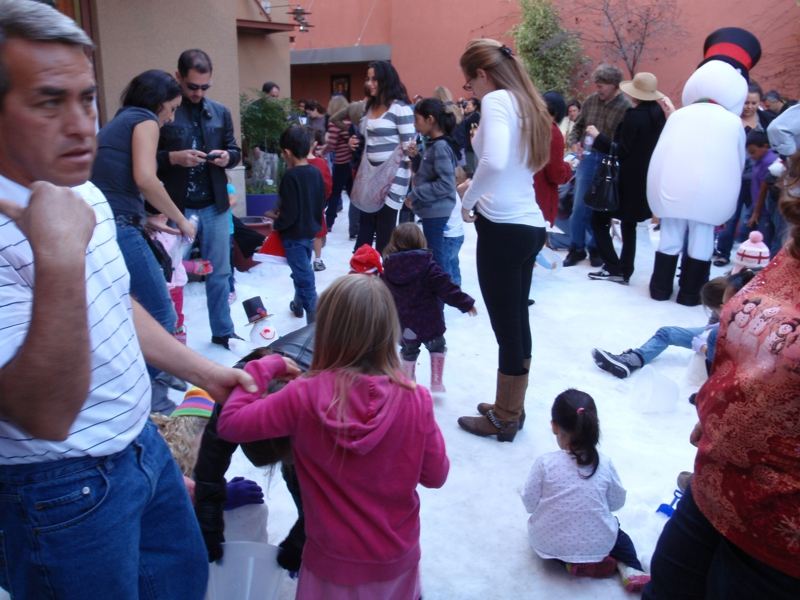 snowman building competition in Pasadena