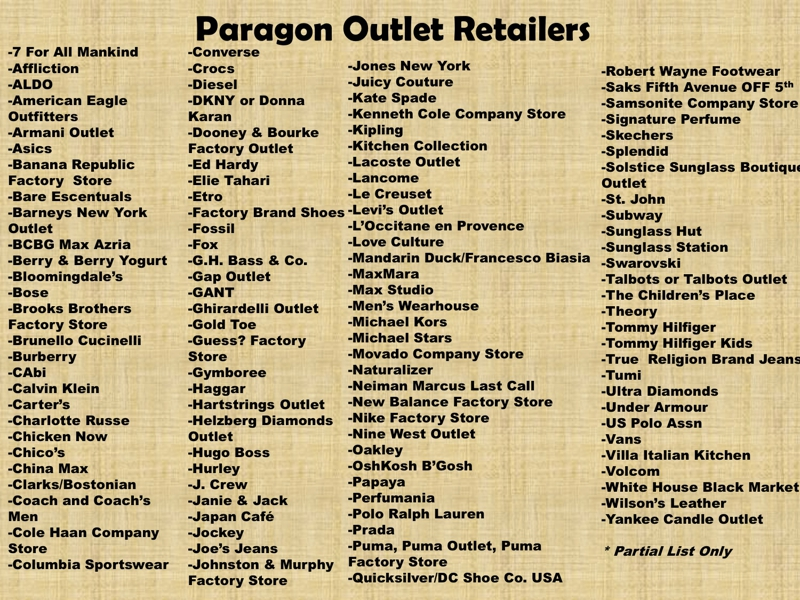 Web Outlet. Quality products and fantastic designs at amazing low prices, only at The Paragon's Web Outlet! A wide variety of clothing, jewelry, gifts and housewares!