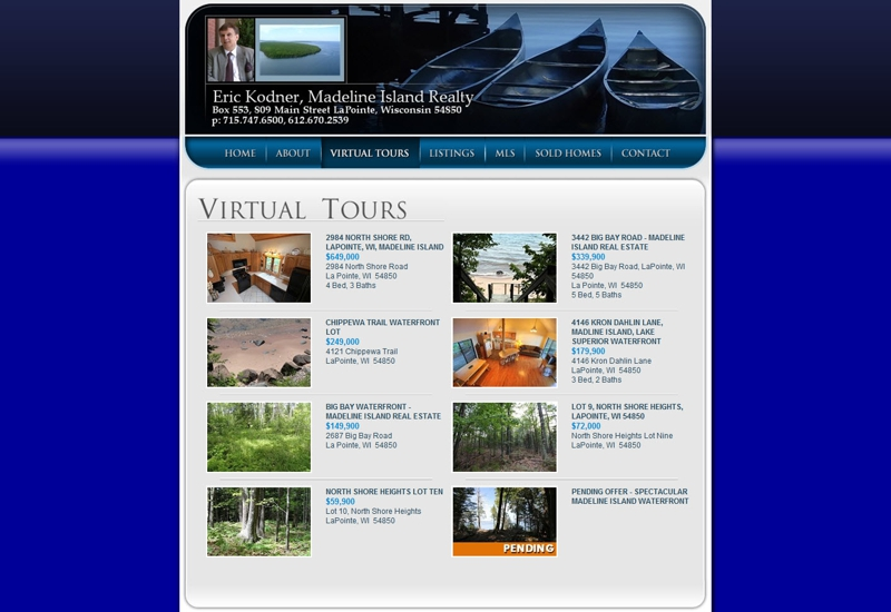 View our property inventory on madeline island madeline for Northwestern virtual tour