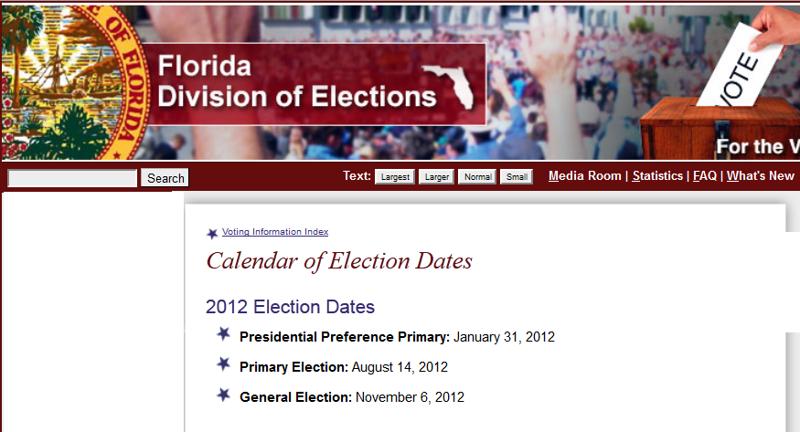 Presidential primary dates in Melbourne