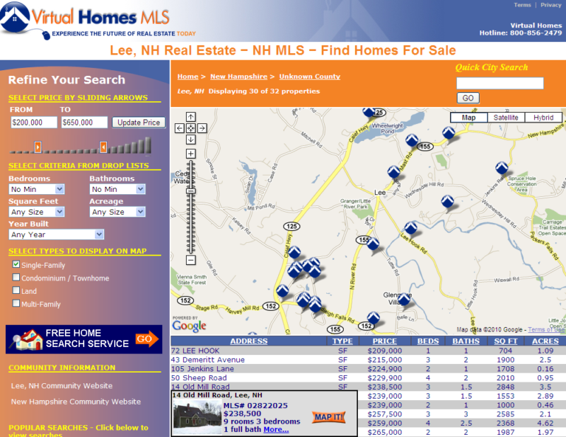 how to search old mls listings