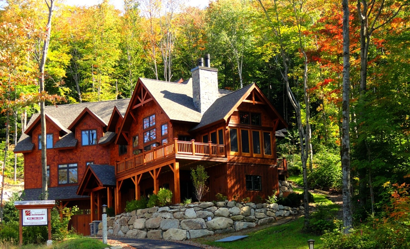 Custom adirondack homes open house loon mt ski resort for Home builders in new hampshire