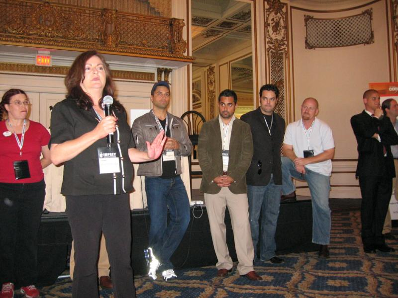 Ardell DellaLoggia at Bloggers Connect, with pride in Kevin Tomlinson for his great efforts in the competition