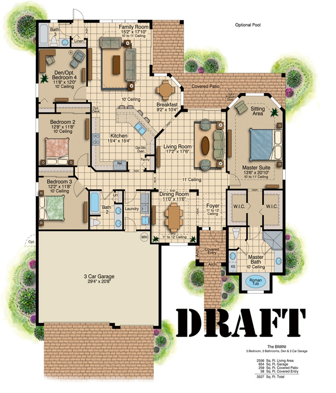 end beach house plans