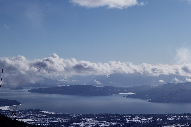 Sandpoint, Idaho, America's Most Beautiful Small Town below Schweitzer