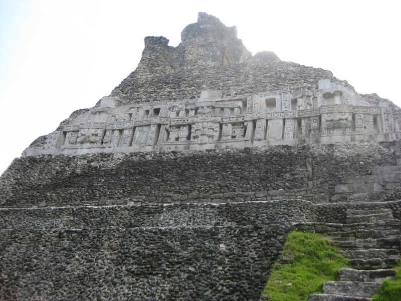 back of mayan temple